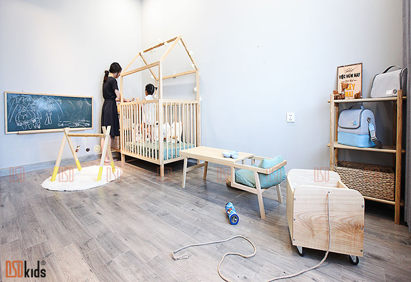 lựa chọn tủ kệ trong không gian cho bé 0-3 tuổi