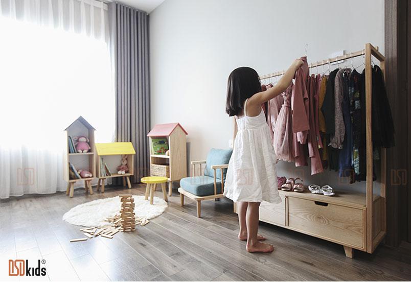 Tủ quần áo dành cho không gian phòng bé 3-6 tuổi