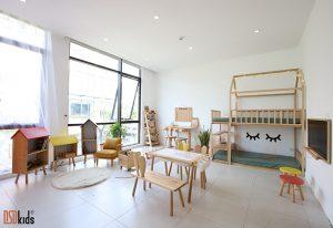 bố trí giường 2 tầng trẻ em