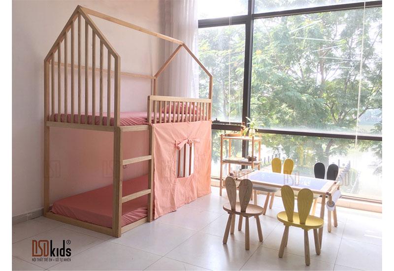 giường 2 tầng cho bé gái