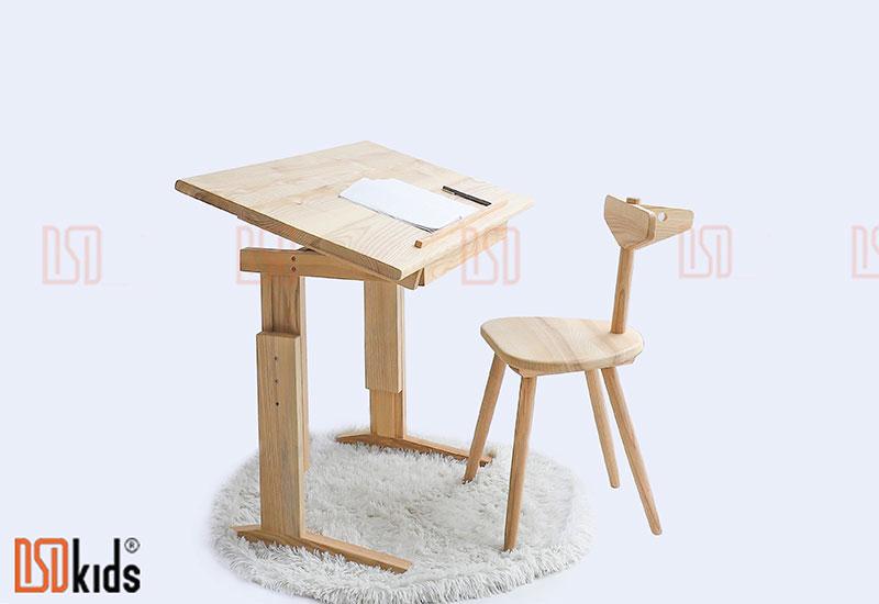Ghế trẻ em gỗ tự nhiên