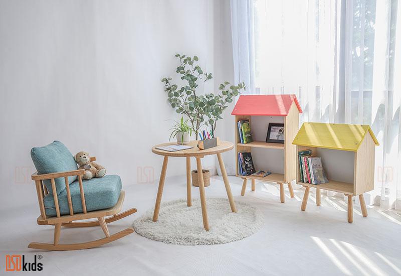 Ghế sofa gỗ tự nhiên cho trẻ