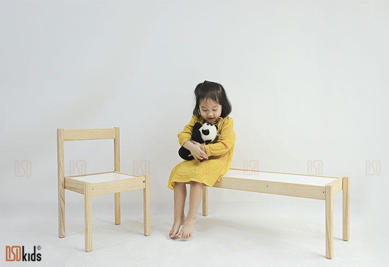 ghế vuông gỗ
