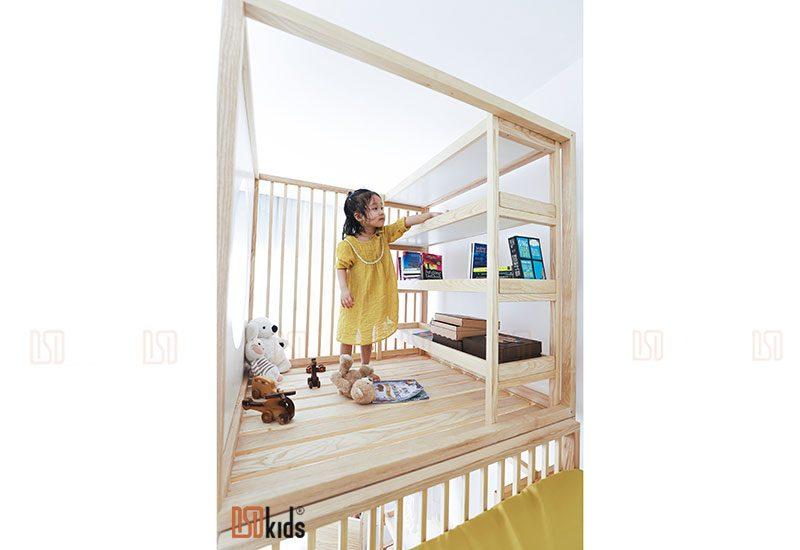 giường gỗ 3 tầng