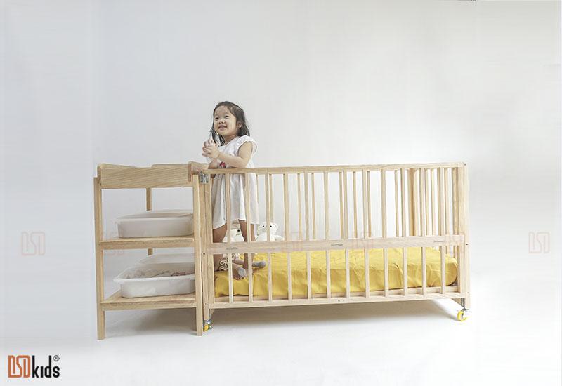 giường cũi đa năng cho bé