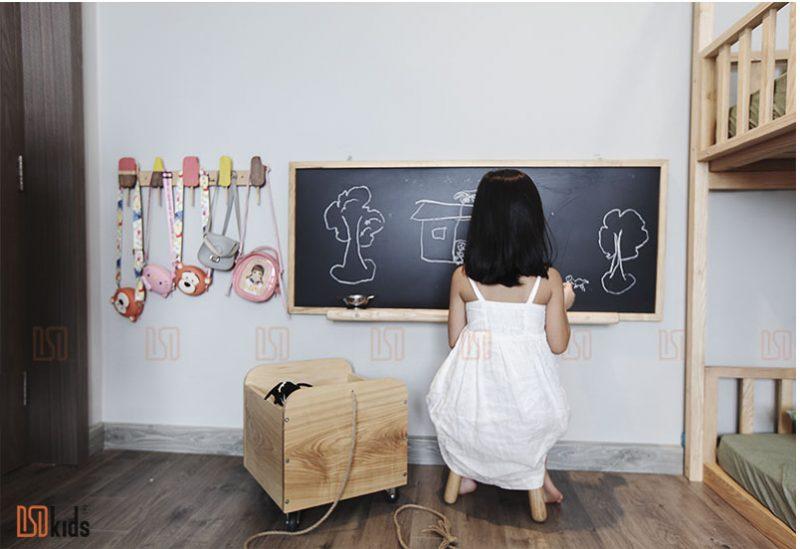 Không gian phòng bé 3-6 tuổi với góc vẽ sáng tạo