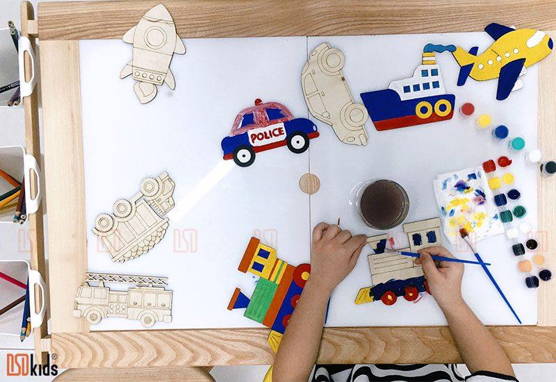 tranh gỗ tô màu trẻ em