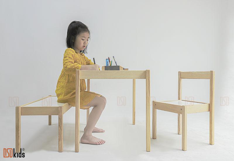 ghế gỗ vuông
