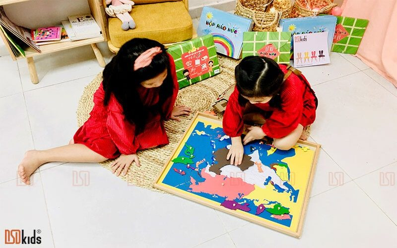 trò chơi ghép tranh bản đồ châu Á